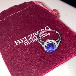 14 KW Tanzanite & Diamonds 3/8 CTW Ring